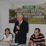 """BZHR Organizoi  FORUMIN  """"Bujqësia detyrim dhe përgjegjësi  për pushtetin vendor"""""""